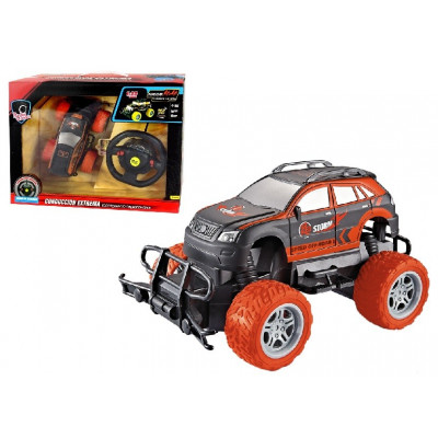 COCHE RC BIGFOOT MANDO VOLANTE NARANJA