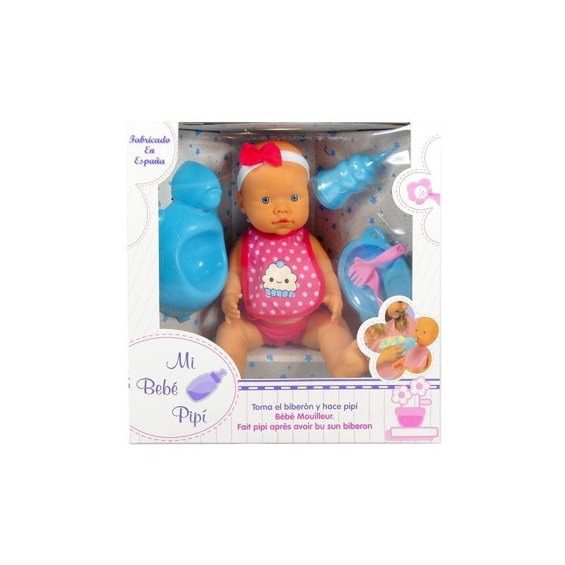 MI BEBÉ PIPÍ - BABERO DE LUNARES de la categoría Muñecas Bebé
