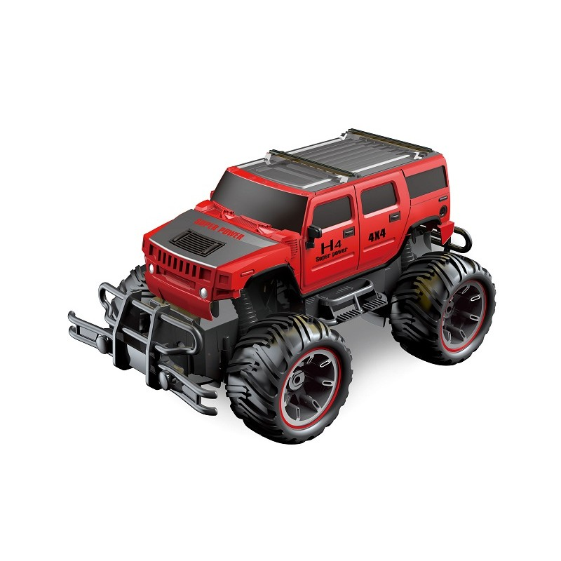 SUPER 4X4 TODOTERRENO RC ESCALA 1:14 JEEP ROJO