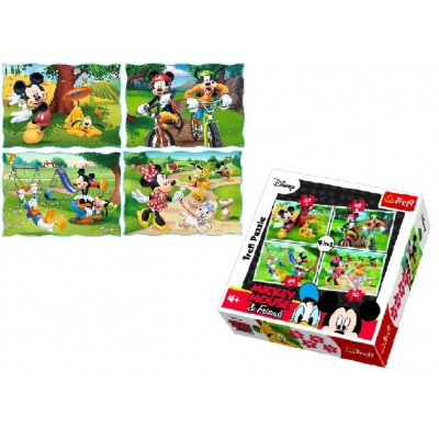 SET DE PUZLE 4 EN 1 DE NICKELODEON Y MICKEY MOUSE