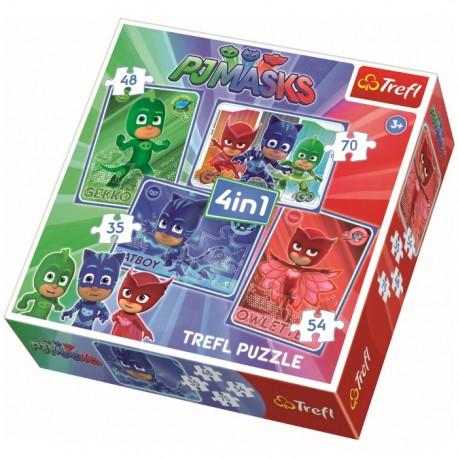SET PUZZLES 4 EN 1 + 2 PUZZLES+MEMO PJ MASKS