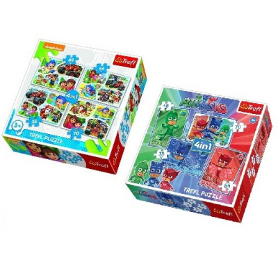 SET PUZZLES 4 EN 1 PJ MASKS + NICKELODEON