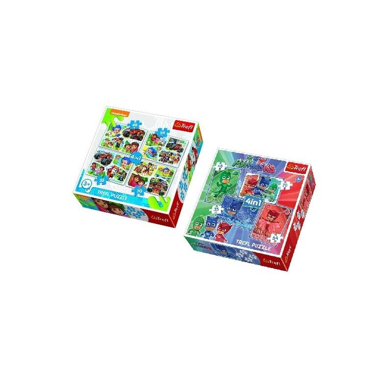 SET PUZZLES 4 EN 1 PJ MASKS + NICKELODEON de la categoría Puzzles