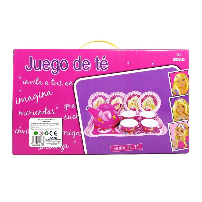 JUEGO DE TÉ METÁLICO 15 PIEZAS PRINCESA