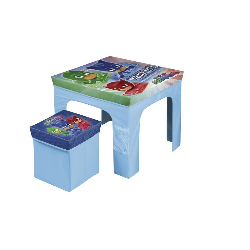 SET MESA Y TABURETE PLEGABLE PJ MASKS