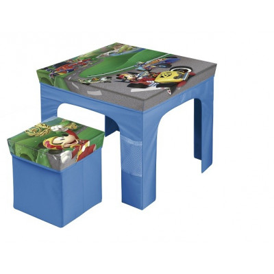 SET MESA Y TABURETE PLEGABLE MICKEY AND THE ROADSTER RACE