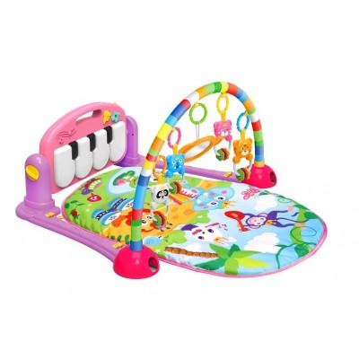 MANTA ACTIVIDADES INFANTIL CON PIANO AZUL