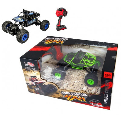 RC TODO TERRENO ROCK CRAWLER ESCALA 1:16 AZUL