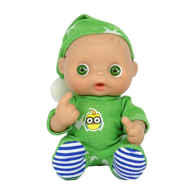 MUÑECO RIN RIN VAMOS A LA CAMA VERDE de la categoría Muñecas Bebé