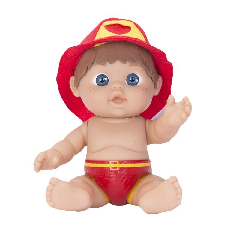 MINI BEBE PERSONAJE BOMBERO 26 CM DE FALCA de la categoría Muñecas Bebé