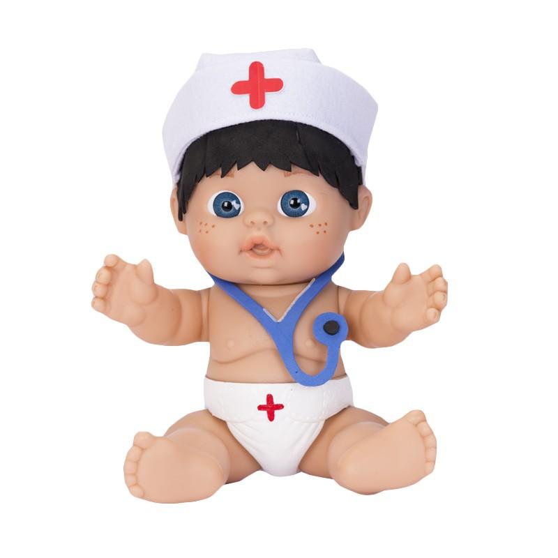 MINI BEBE PERSONAJE ENFERMERO 26 CM DE FALCA de la categoría Muñecas Bebé
