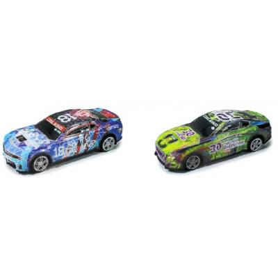 SET 2 COCHES RC PVC ESCALA 1/24 A PILAS (NO INCLUIDAS)