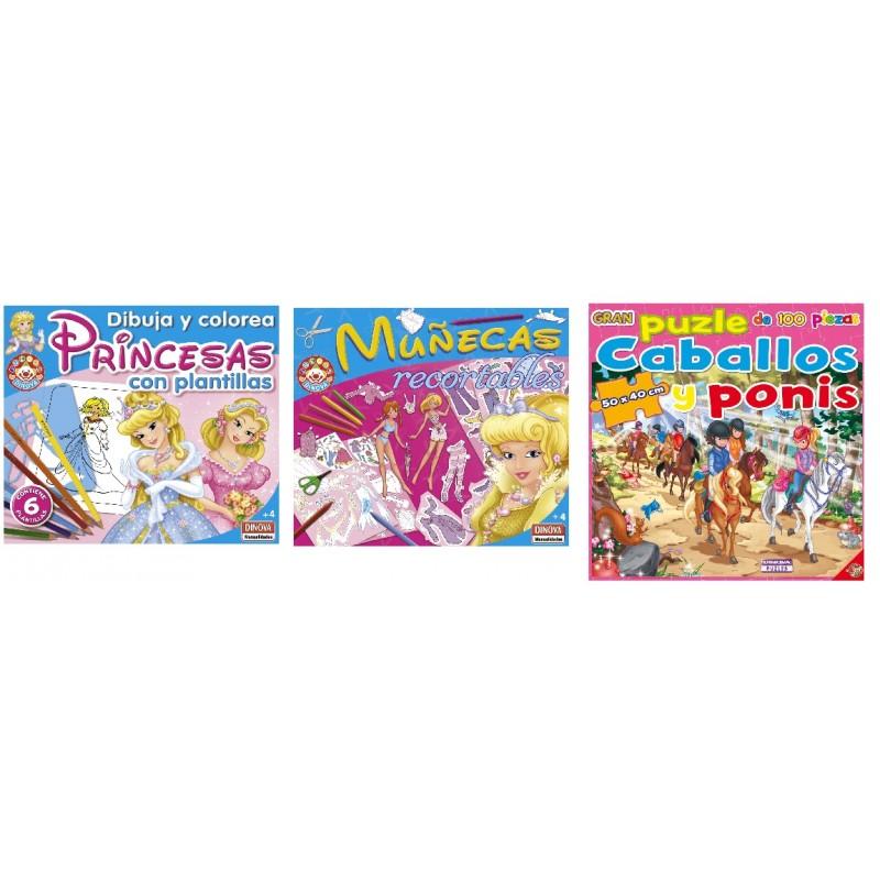PACK 3 JUEGOS DINOVA PLANTILLAS+RECORTABLES+PUZLE de la categoría Arte y Manualidades