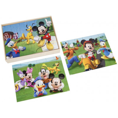 PACK 3 PUZZLES DE MADERA MICKEY MOUSE