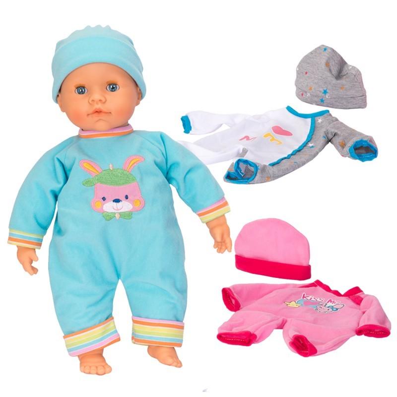 MUÑECA BABY CARE Y SU ROPITA CON 2 TRAJES