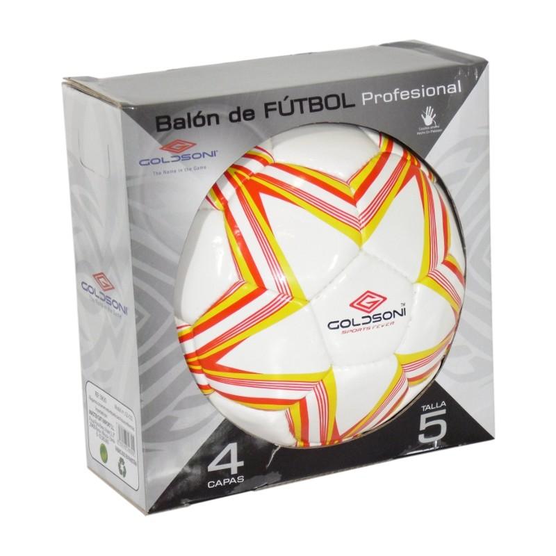BALÓN DE FÚTBOL GOLDSONI - BLANCO