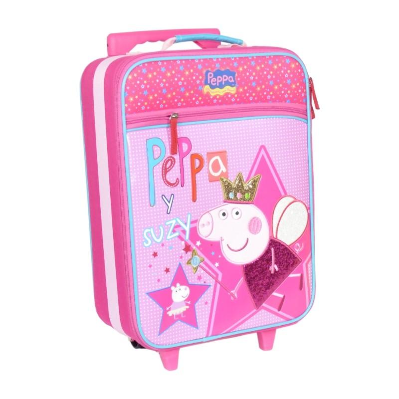 MALETA INFANTIL TROLLEY CON RUEDAS PEPPA PIG - Peppa y Suzy