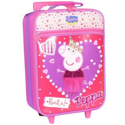 MALETA INFANTIL TROLLEY CON RUEDAS PEPPA PIG - Peppa Baila