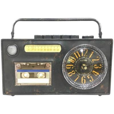 RELOJ VINTAGE RADIOCASETE - NEGRO