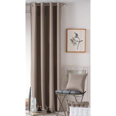CORTINA CON ANILLAS 140x260CM LISO DANAE LINO de la categoría Decoración Textil