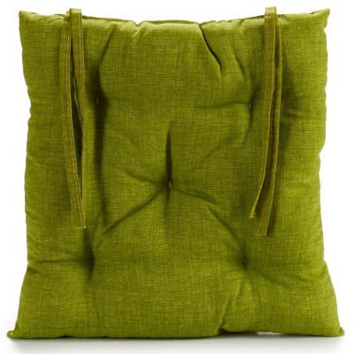 CÓJÍN PARA SILLA DE 40x40x6CM - VERDE de la categoría Decoración Textil