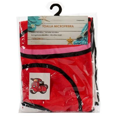 TOALLA MICROFIBRA CON FORMA DE MOTO 127x152CM