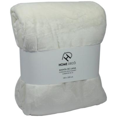 MANTA HOME DECÓ 150x220CM - BLANCO de la categoría Textil Dormitorio
