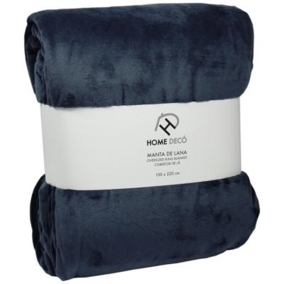 MANTA HOME DECÓ 150x220CM - GRIS OSCURO de la categoría Textil Dormitorio