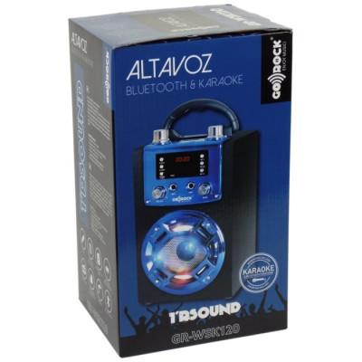ALTAVOZ BLUETOOTH KARAOKE GO-ROCK GR-WSK120 AZUL de la categoría Electrónica