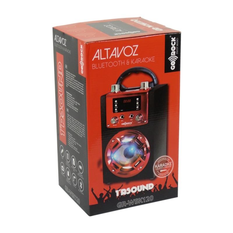 ALTAVOZ BLUETOOTH KARAOKE GO-ROCK GR-WSK120 ROJO