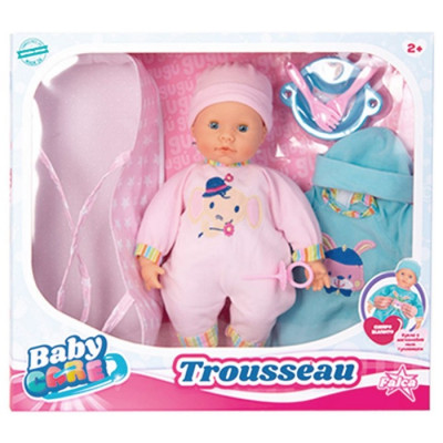 BABY CARE TROUSSEAU 38CM CON MOISÉS