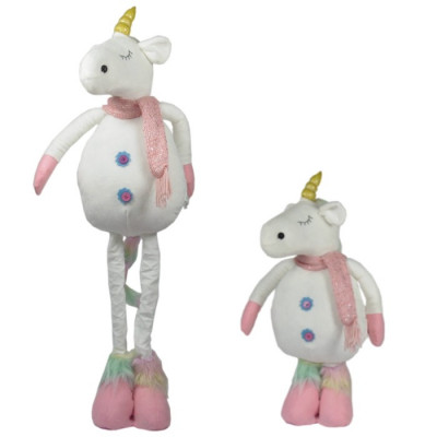 FIGURA DECORATIVA UNICORNIO ALTO CON PATAS REGULABLES - ROSA-