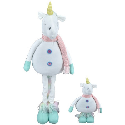 FIGURA DECORATIVA UNICORNIO ALTO CON PATAS REGULABLES - CELESTE-