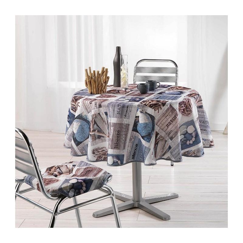 MANTEL REDONDO Ø180CM ESTAMPADO ATLANTIS de la categoría Decoración Textil