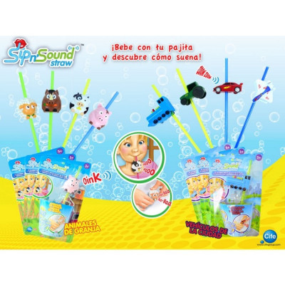 PAJITAS CON SONIDO SIP AND SOUND - SURTIDO