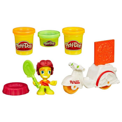 MINI VEHÍCULOS PLAYDOH TOWN - REPARTIDOR DE PIZZA-