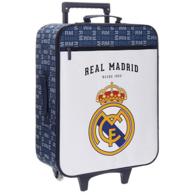 TROLLEY REAL MADRID LETRAS CON FRONTAL BLANCO DE 2 RUEDAS