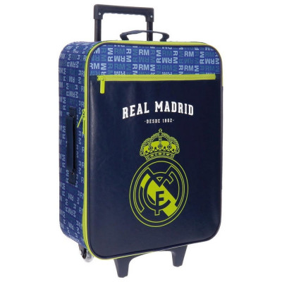 TROLLEY REAL MADRID LETRAS FRONTAL AZUL DE 2 RUEDAS