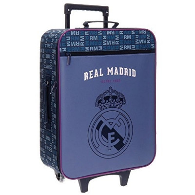TROLLEY REAL MADRID LETRAS FRONTAL MORADO DE 2 RUEDAS