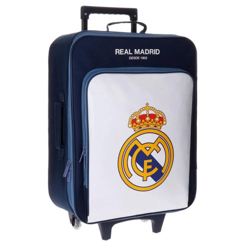 TROLLEY REAL MADRID BASIC AZUL CON FRONTAL BLANCO de la categoría Maletas y Accesorios Viaje