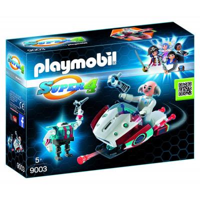 PLAYMOBIL SUPER 4 SKYJET DOCTOR X CON ROBOT