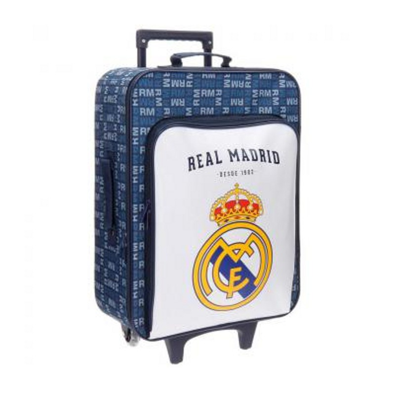 TROLLEY REAL MADRID LETRAS CON BOLSILLO FRONTAL BLANCO