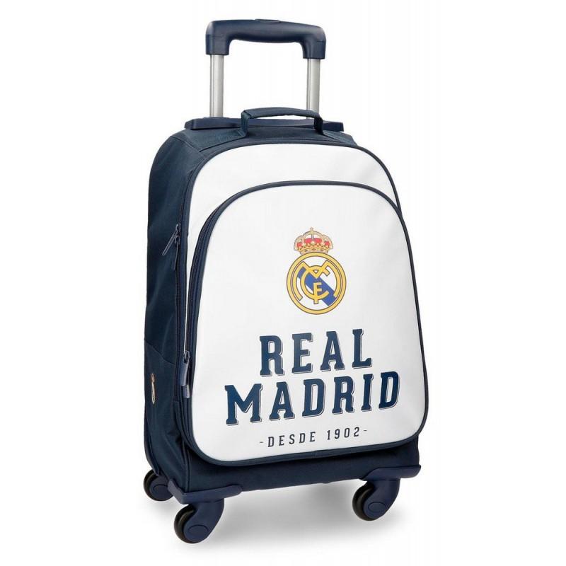 MALETA JUVENIL 4 RUEDAS REAL MADRID
