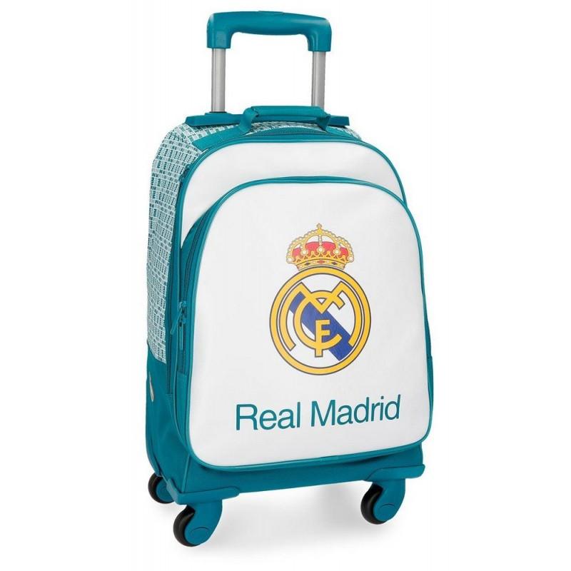 MALETA JUVENIL REAL MADRID TURQUESA