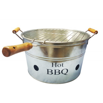 BARBACOA METAL PORTATIL -ACERO--