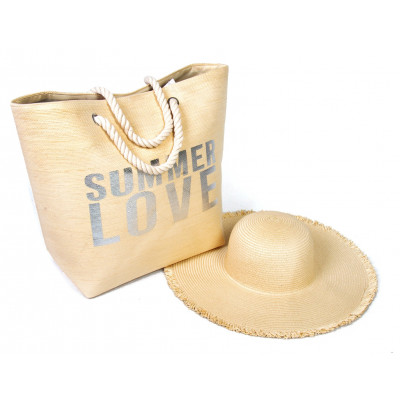 BOLSO DE PLAYA CON SOMBRERO