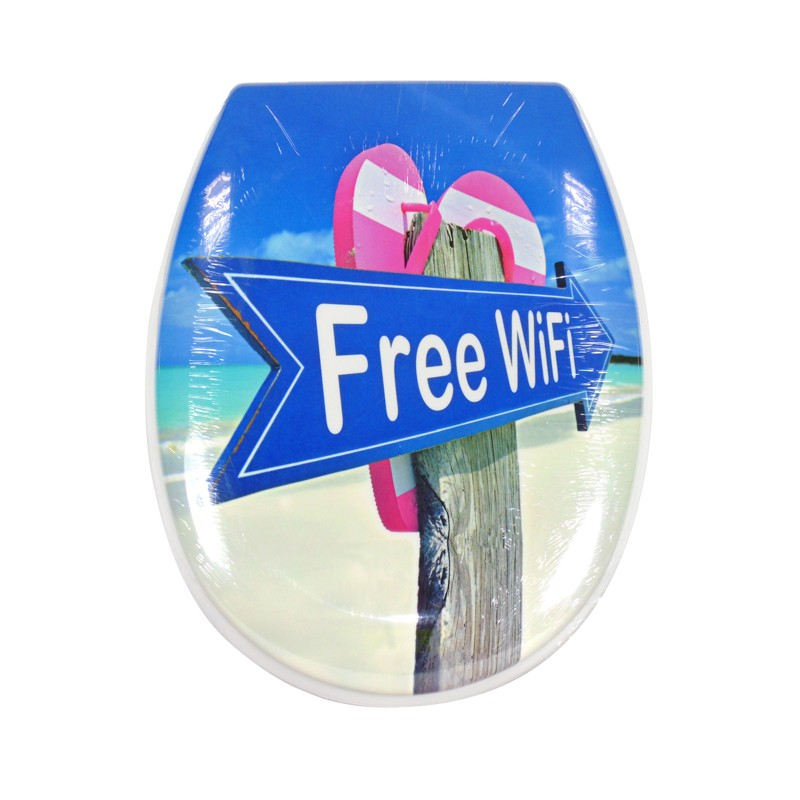 TAPA WC FREE WIFI