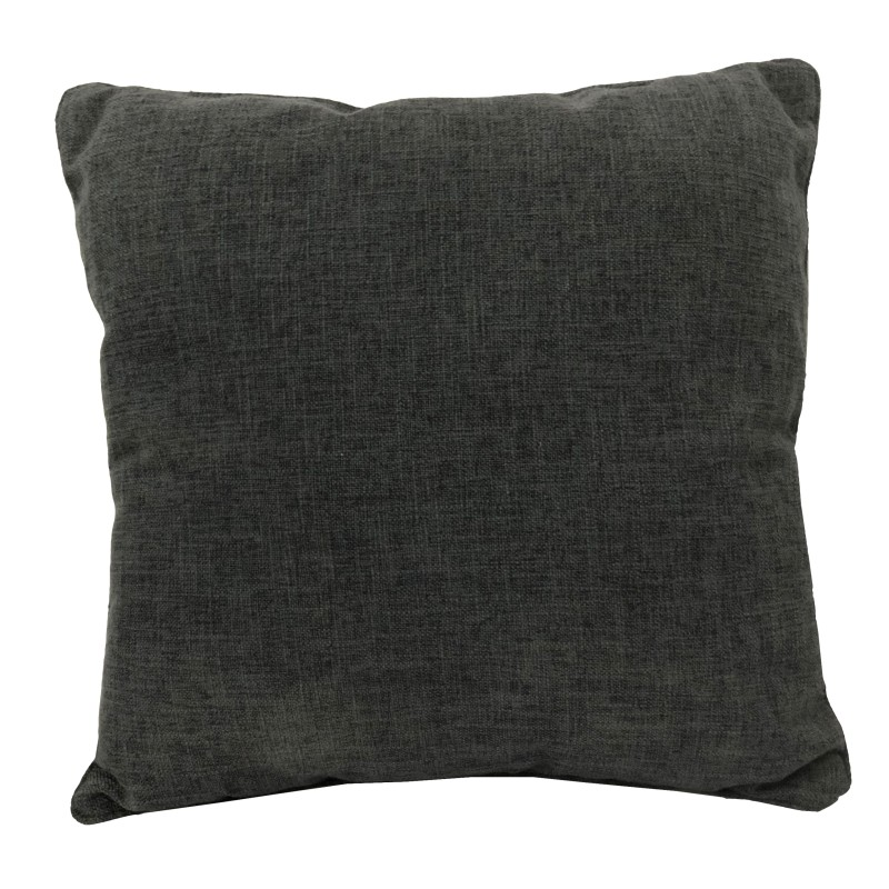 PACK 2 COJINES CON RELLENO 45 X 45 CM -GRIS OSCURO-