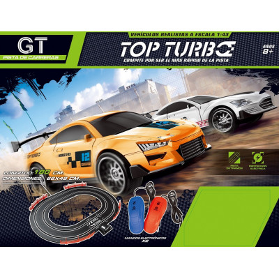 PISTA TOP TURBO CON 2 COCHES