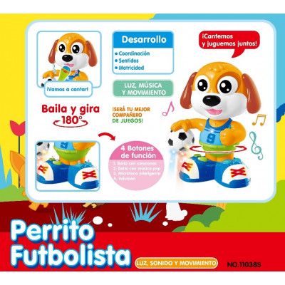 PERRITO FUTBOLISTA CON...